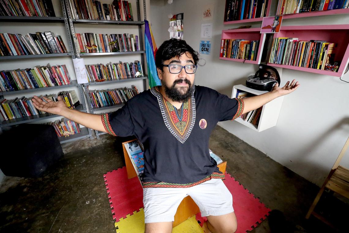 Talles iniciou sua carreira em blogs e hoje faz parte da editoria Substânsia. (Foto: FÁBIO LIMA/O POVO)