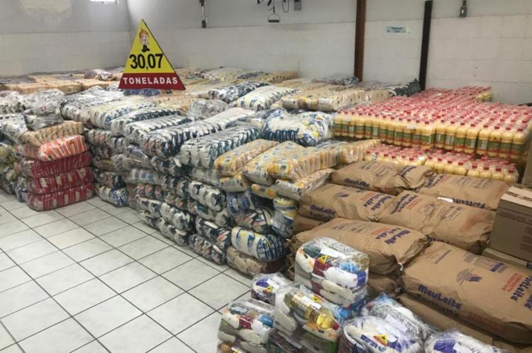 Seis entidades recebem os alimentos arrecadados pela campanha