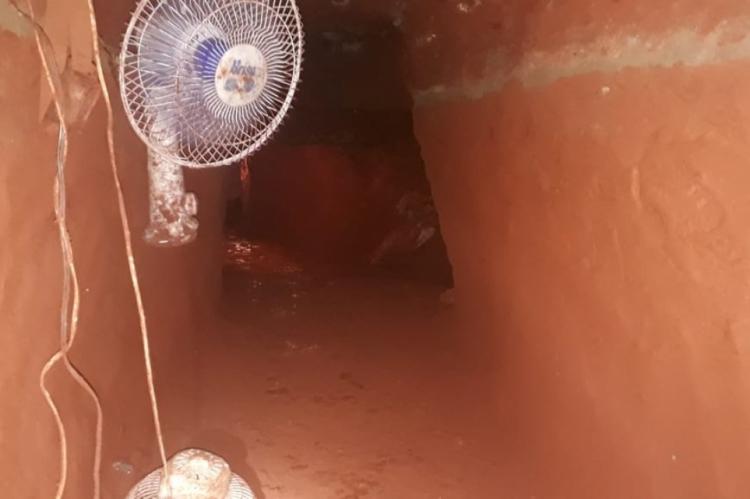 Túnel tinha até ventiladores no caminho