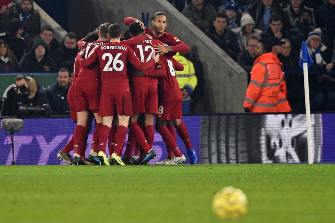 Liverpool é o atual líder disparado da Premier League
