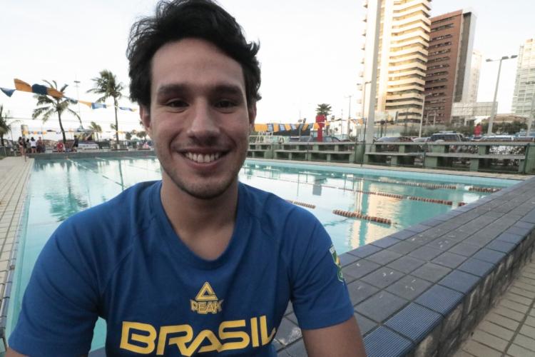 Luiz Altamir vai defender o Brasil no revezamento 4x200m nos Jogos Olímpicos (Foto: BÁRBARA MOIRA)