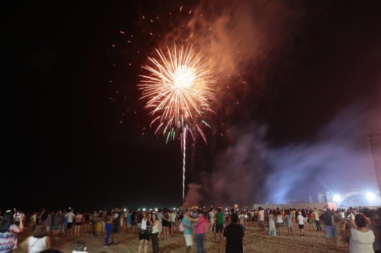 FORTALEZA, CE, BRASIL, 30.12.2019: Teste de fogos no aterro da praia de Iracema.   (Fotos: JÚLIO CAESAR / O POVO)