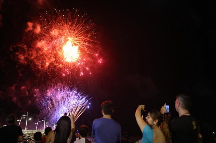 Neste ano, a queima de fogos custará pouco mais de R$ 1,2 milhão para os cofres públicos do Município.