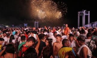 FORTALEZA-CE, BRASIL, 31-12-2019: QUEIMA DE FOLGOS, FESTA DE REVEILLON NO ATERRO DA PRAIA DE IRACEMA. (Foto: Júlio Caesar/ O Povo)