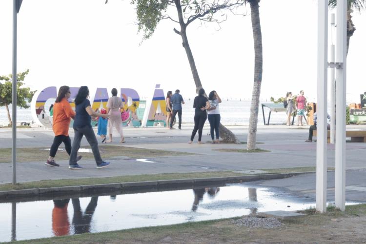 Praia de Iracema será fiscalizada durante a virada do ano, diz Camilo  (Foto: BARBARA MOIRA)