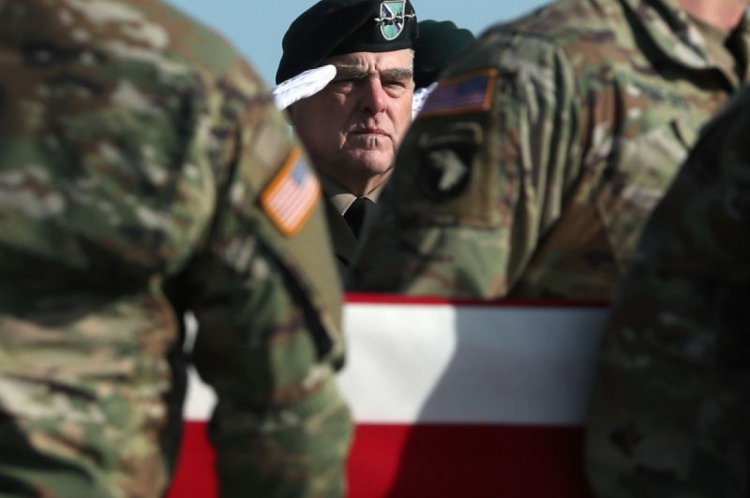 General Mark Milley, chefe do Estado-Maior Conjunto dos EUA, o oficial de mais alto escalão das Forças Armadas norte-americanas