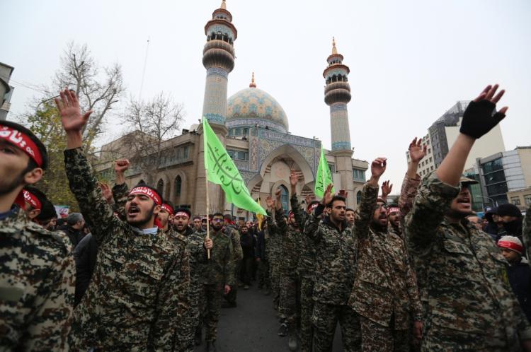 Protesto no Irã por causa da morte do comandante Qasem Soleimani