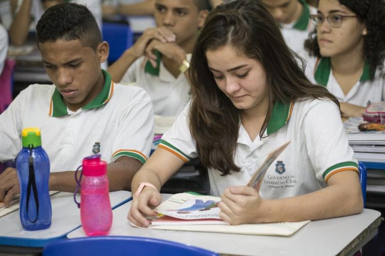 Secretaria da Educação (Seduc) dá início a matrículas para o ano letivo 2020 (Foto: Tiago Stille/Governo do Ceará)
