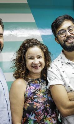 Marcos Sampaio, Cinthia Medeiros e Renato Abê comandam edição de estreia do podcast Vida&Arte