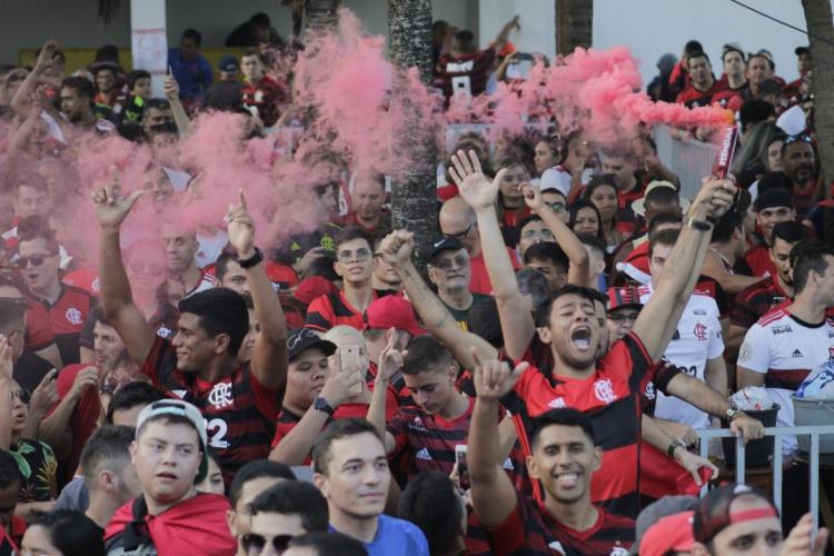 Após rompimento com a Globo, transmissão do jogo do Flamengo e Volta Redonda será fechada e com taxa de R$10 por torcedor (Foto:  Sandro Valentim/O POVO)
