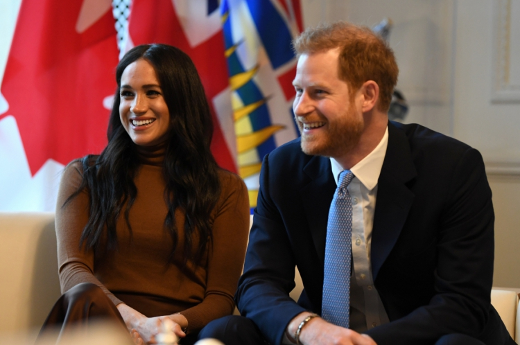 7 de janeiro de 2020, Principe Harry e a duquesa Sussex, fazem visita a casa do canada, em Londres. (Photo by DANIEL LEAL-OLIVAS / POOL / AFP)
