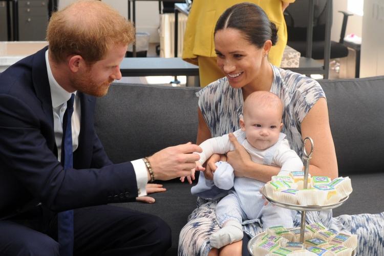 25 de setembro de 2019, O principe britanico, Harry, sua esposa Meghan, Duquesa de Sussex e o filho do casal, Archie Harrison Mountbatten-Windsor. (Photo by HENK KRUGER / POOL / AFP) (Foto: HENK KRUGER / POOL / AFP)