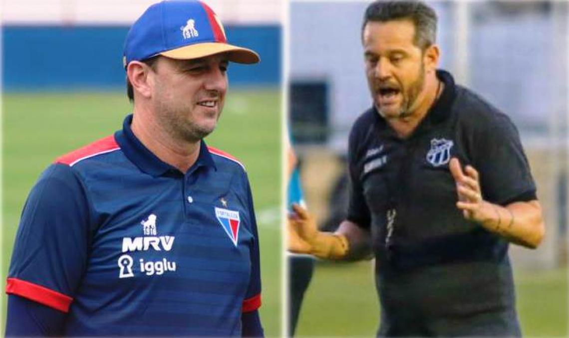 Rogério Ceni vai para o terceiro ano consecutivo como técnico do Fortaleza, enquanto Argel permaneceu após o Ceará escapar do rebaixamento pra a Série B de 2020