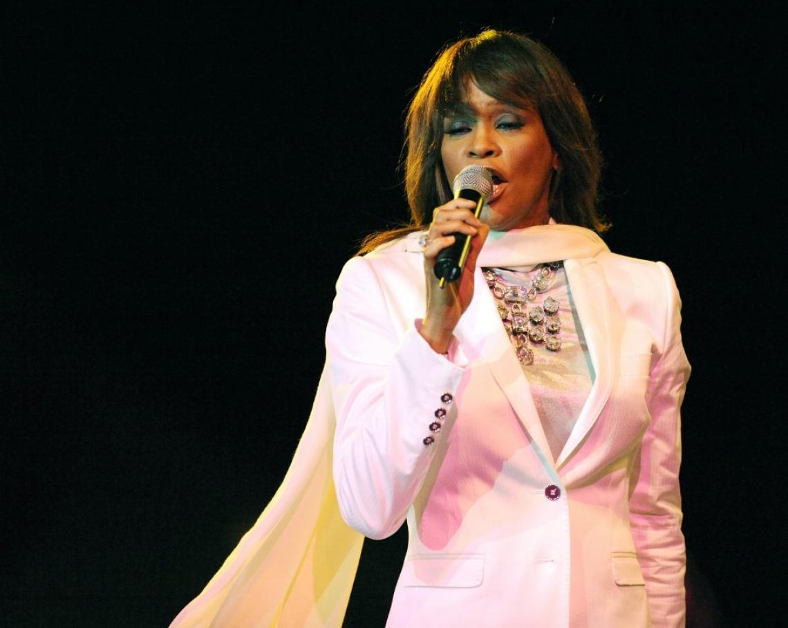 Whitney, em 2008, durante show no Marrocos
