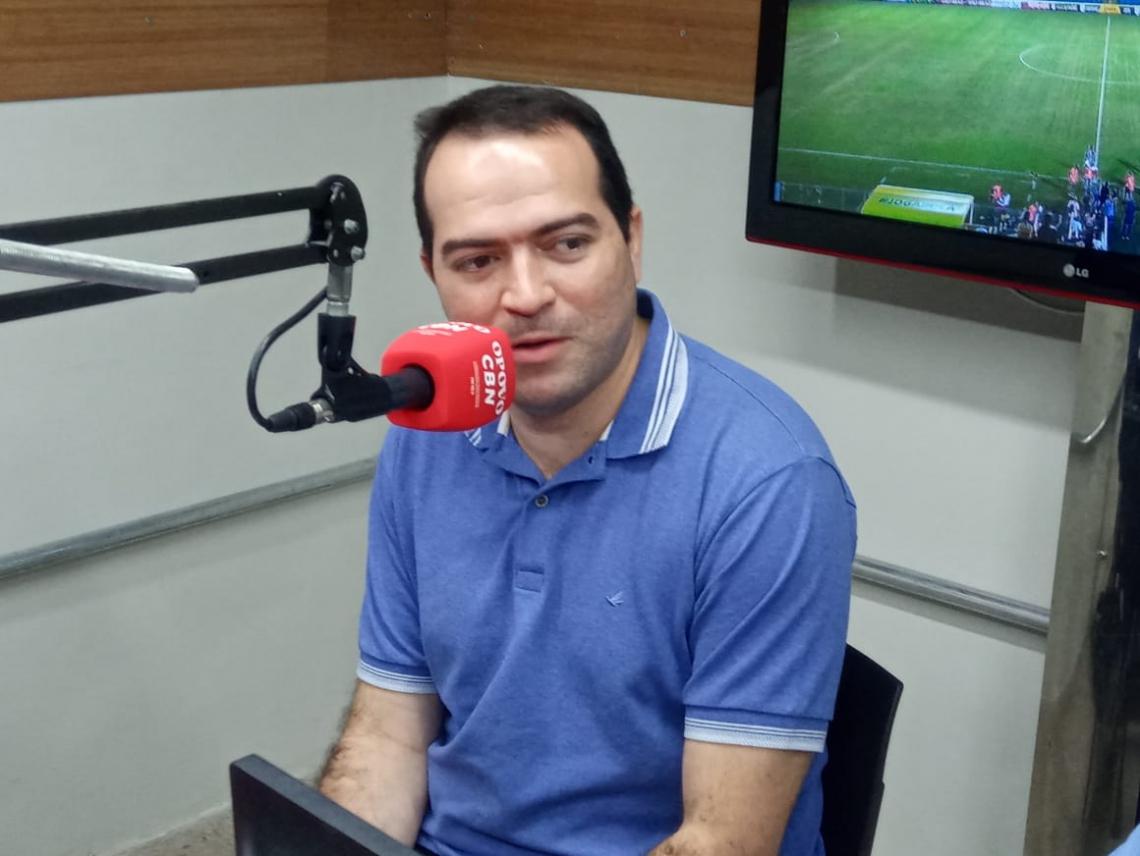Marcelo Paz durante entrevista na rádio O POVO/CBN