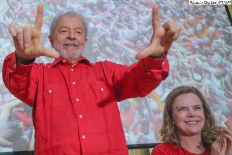 Lula e Gleisi Hoffmann (Foto: DIVULGAÇÃO)