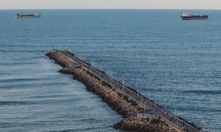 FORTALEZA, CE, BRASIL, 20-01-2020: Vista do espigão João Cordeiro. Praias de Fortaleza. (Foto: Aurélio Alves/O POVO)