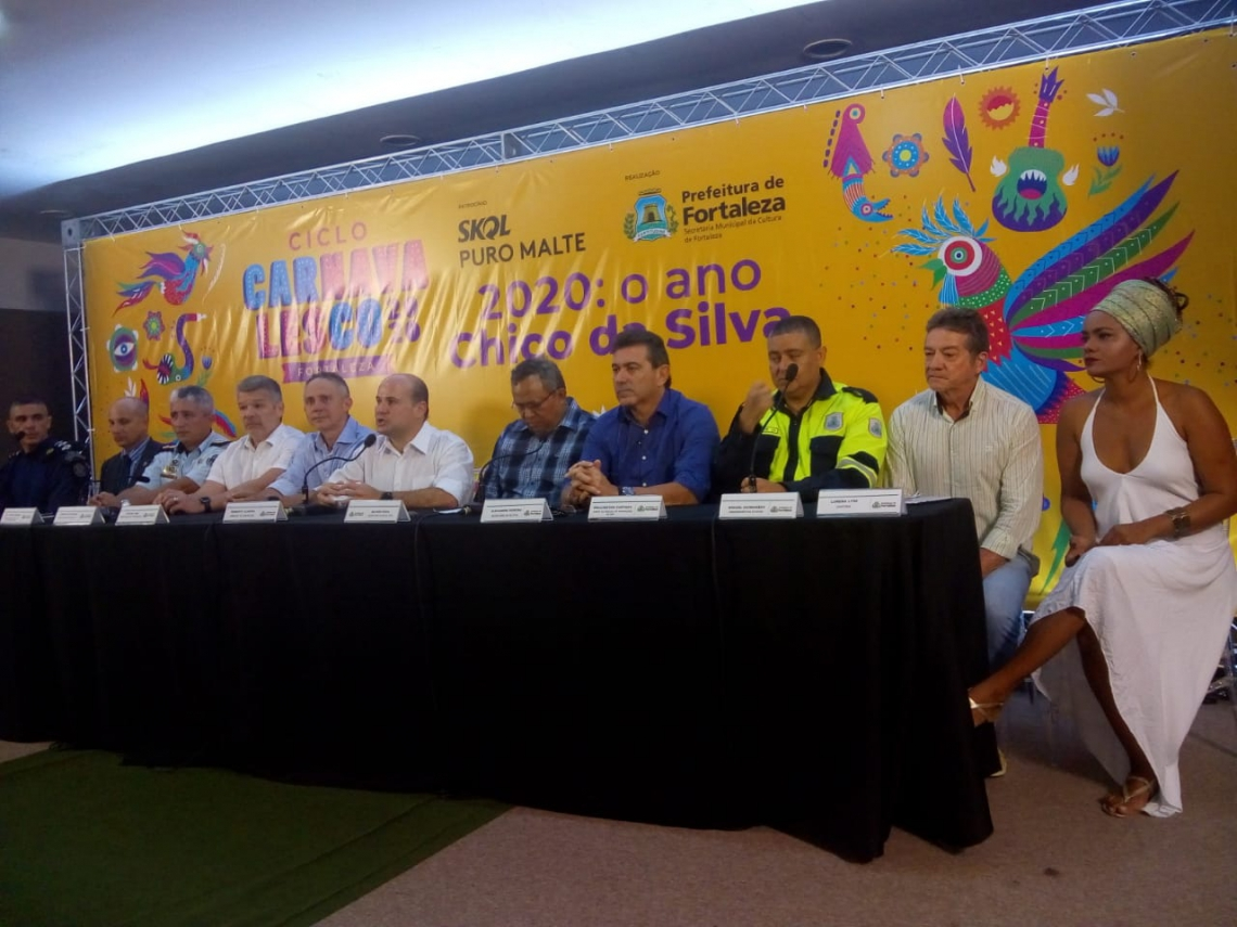 O Ciclo Carnavalesco 2020 é uma realização da Prefeitura de Fortaleza, por meio da Secretaria Municipal da Cultura de Fortaleza, com patrocínio oficial da marca Skol