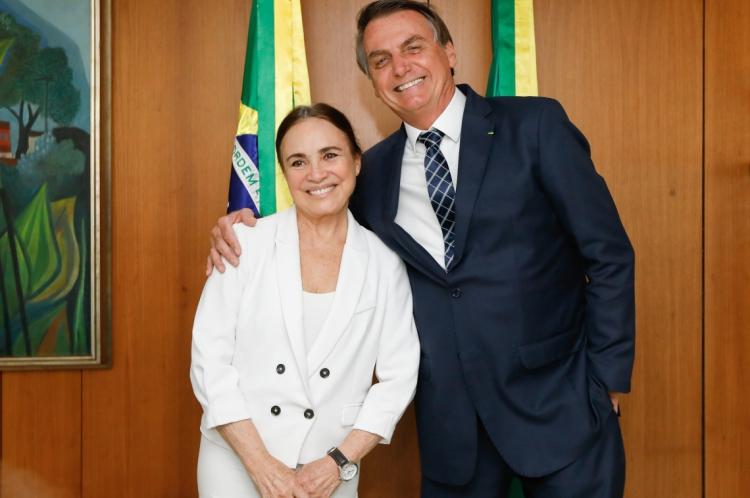(Brasília - DF, 22/01/2020) Encontro com Regina Duarte, com o presidente Jair Bolsonaro. (Foto: Carolina Antunes/PR)