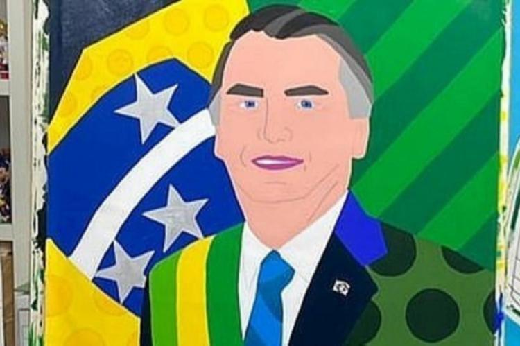 Pintura em homenagem a Bolsonaro