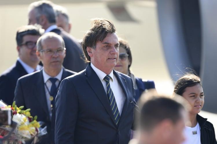 Presidente Bolsonaro chegou à Índia nesta sexta-feira