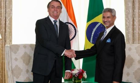 (Nova Delhi - Índia, 25/01/2020) Presidente da Republicação, Jair Bolsonaro, durante encontro Bilateral com o senhor Subrahmanyam, Ministro de negócios Estrangeiros da Índia.