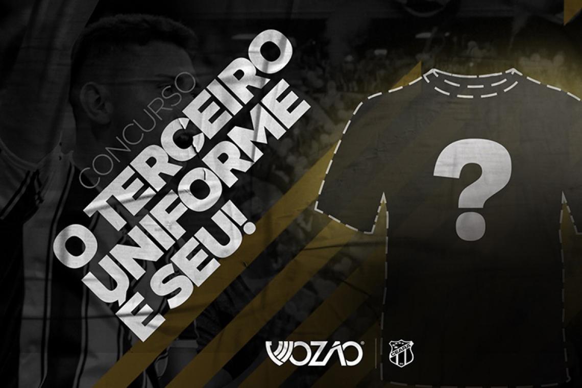 Torcedor do Ceará tem uma semana para enviar modelos de camisas autorais