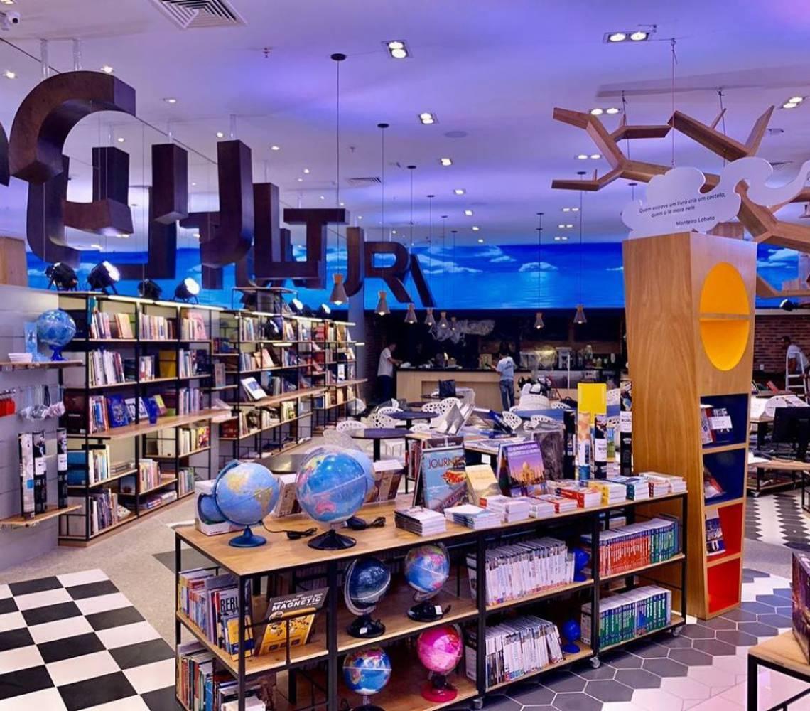 Livraria Cultura, localizada no Shopping RioMar Fortaleza (Foto: Reprodução/Instagram )