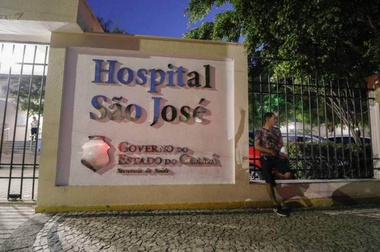 FORTALEZA, CE, BRASIL, 29-01-2020: Fachada do hospital São José no bairro Amadeu Furtado. (Foto: Beatriz Boblitz/ O POVO)