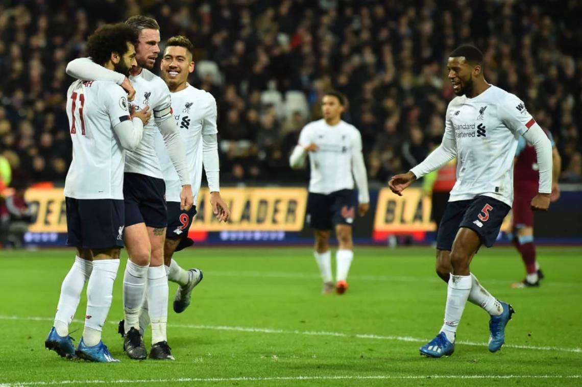 Liverpool venceu West Ham por 2 a 0