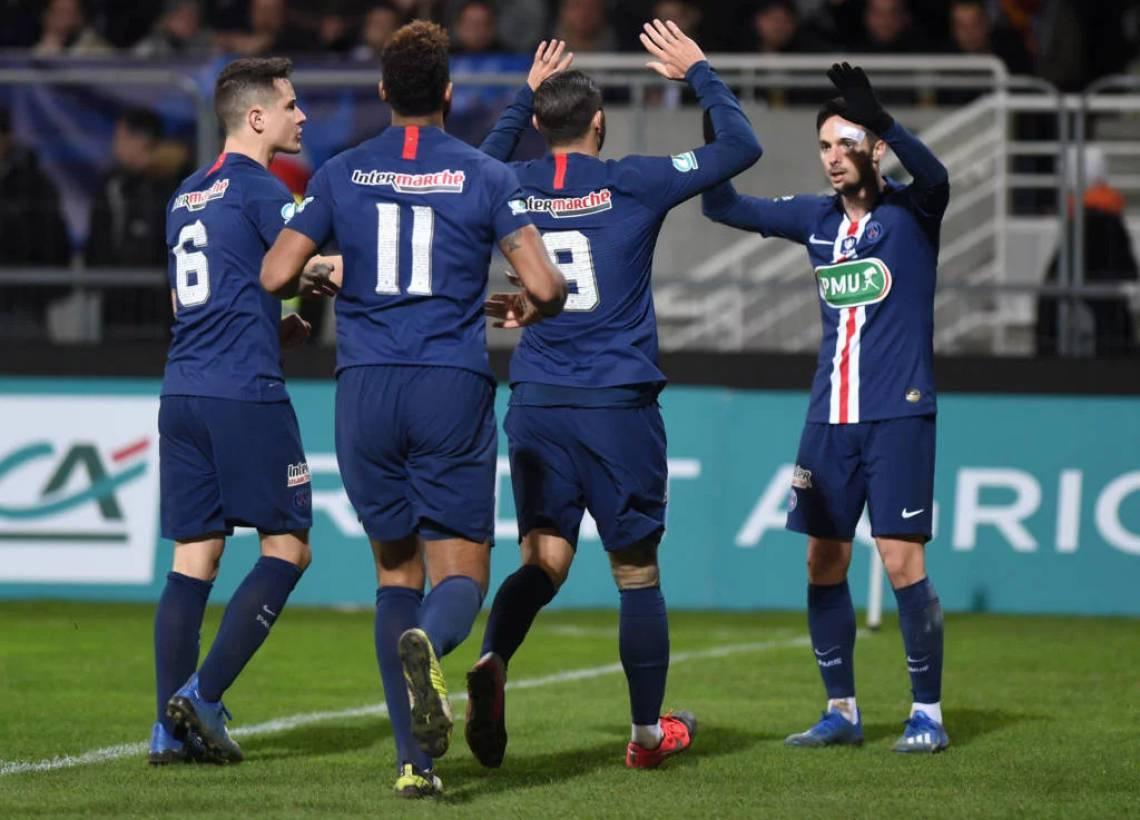 PSG venceu o Pau por 2 a 0, na Copa da França
