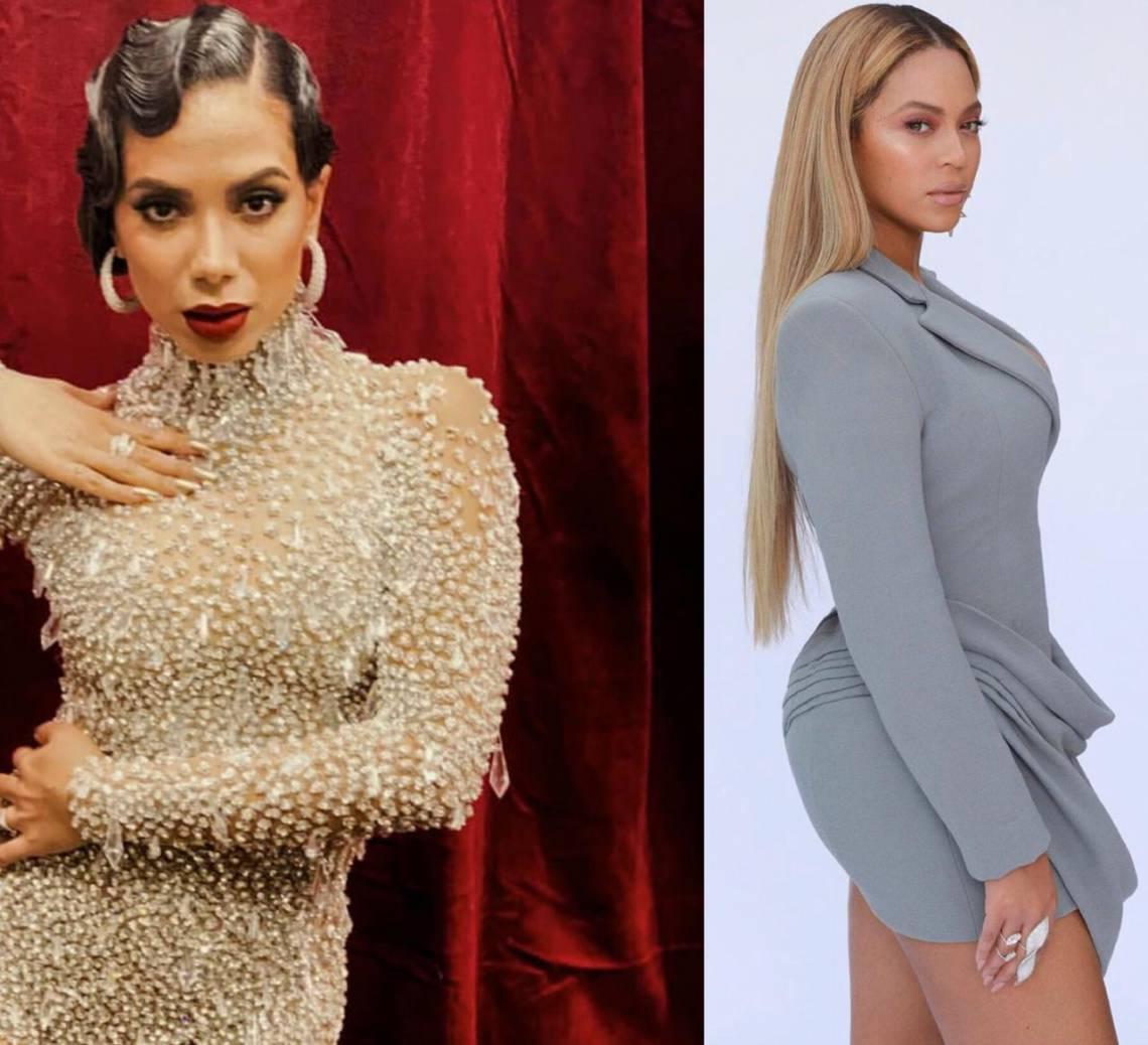 Anitta foi presentada com diversos looks da coleção da diva americana Beyoncé e aproveitou para compartilhar a emoção com os fãs.