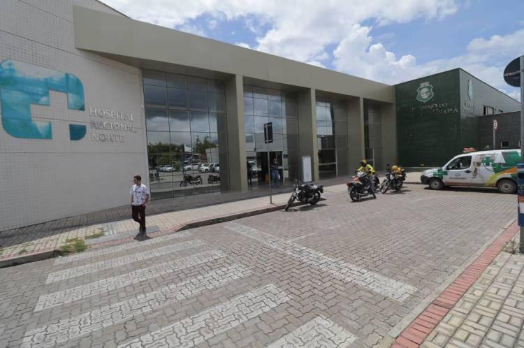 Fachada do Hospital Regional Norte em Sobral