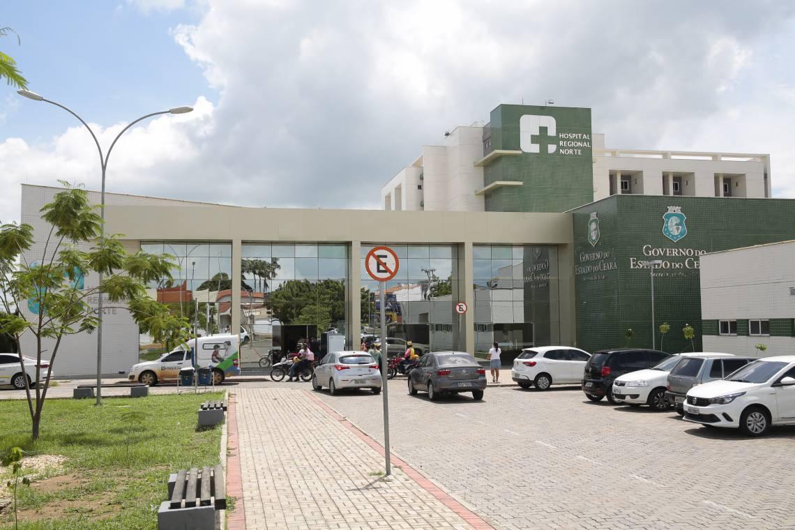 Hospital Regional Norte em Sobral registra lotação máxima em UTI para casos de Covid (Foto: JÚLIO CAESAR)