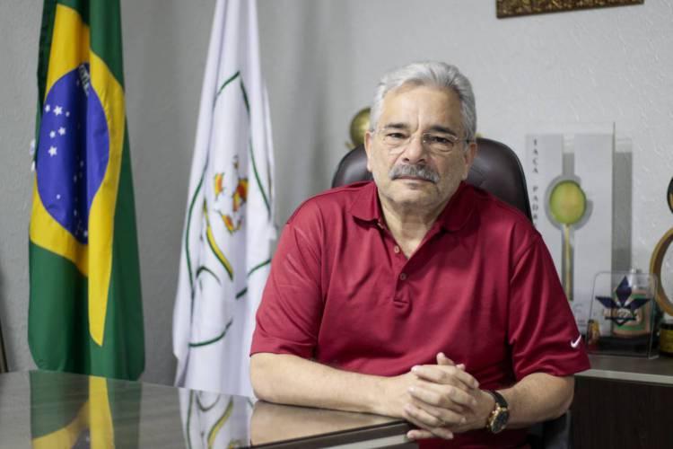 Mauro Carmélio preside a Federação Cearense de Futebol desde 2009 (Foto: DEÍSA GARCÊZ/Especial para O POVO em 31/1/2020)