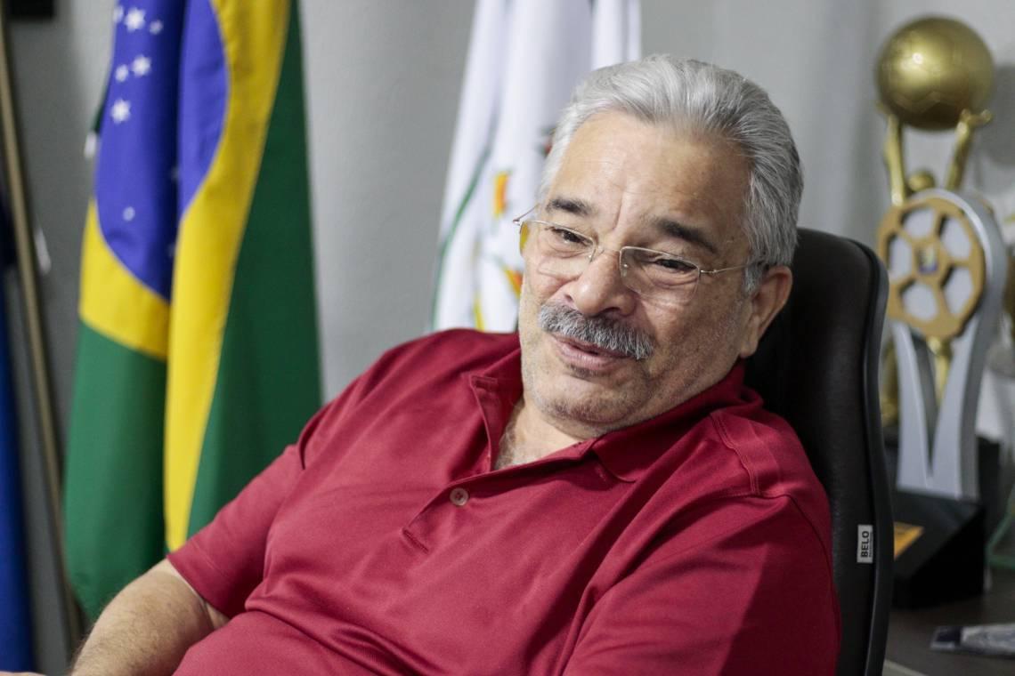 Mauro Carmélio foi reeleito presidente da Federação Cearense de Futebol (Foto: DEÍSA GARCÊZ/Especial para O POVO)