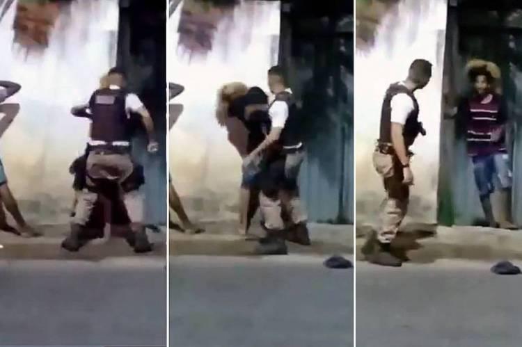 Vídeo mostra abordagem policial violenta contra um jovem negro