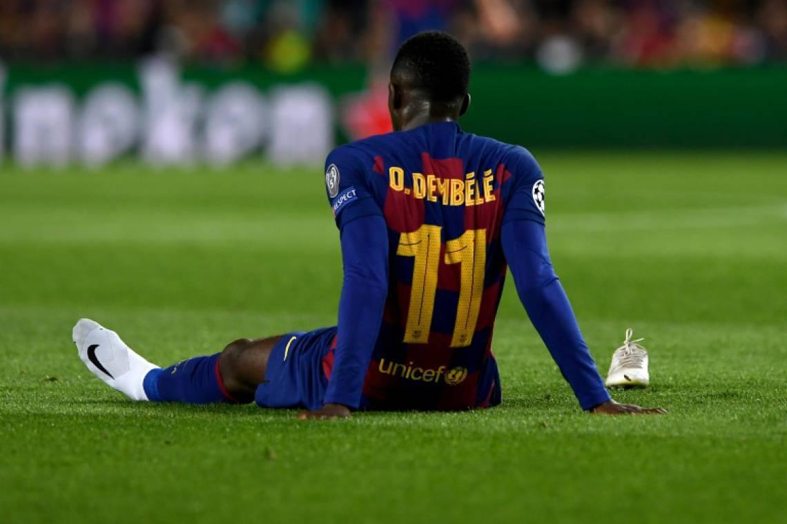 Dembelé sofreu lesão no tendão da coxa