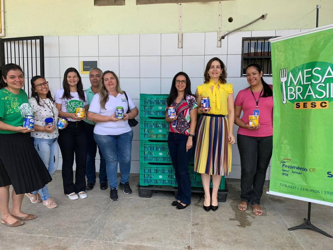 A entrega dos donativos arrecadados na 11ª Corrida O POVO foi feita na última segunda-feira, 3