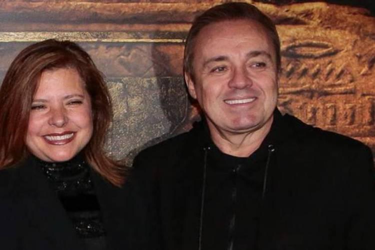 Rose Miriam e Gugu; a médica luta na justiça para ter direito a parte dos bens do apresentador, que morreu em 2019