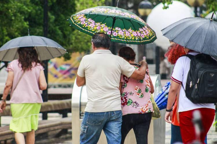 Chuva na Praça do Ferreira