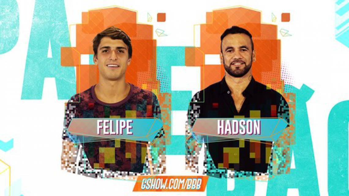 Paredão entre amigos: o arquiteto Felipe e o ex-jogador de futebol Hadson são os encurralados da semana