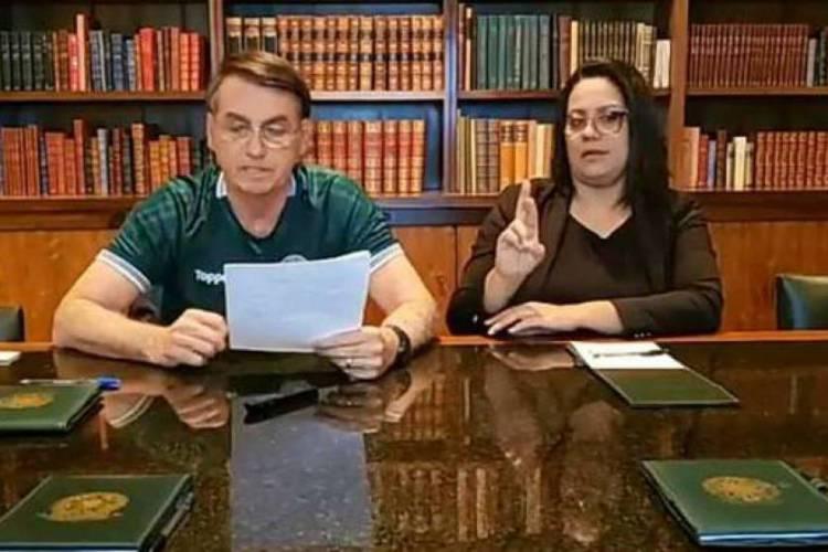 Bolsonaro evita falar 13, número do PT, durante live  (Foto: Reprodução/Facebook)
