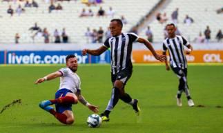 15 de fevereiro de 2020, Lances do jogo entra Ceará x Bahia, pela copa do nordeste 2020, na arena castelão. Em destaque BRUNO PACHECO. (Foto JL Rosa/O Povo)
