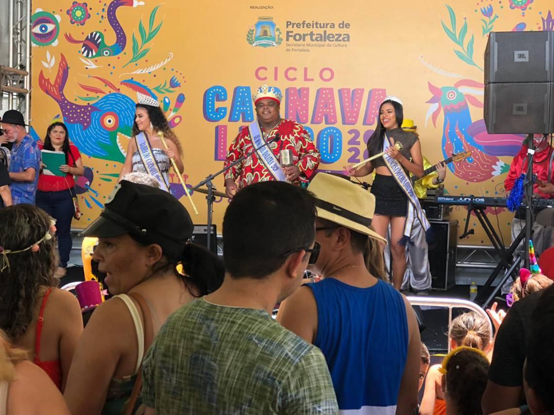 Folia acontece no Pólo dos Queijos, no Centro de Fortaleza