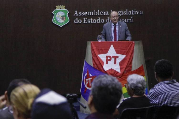 FORTALEZA - CE, BRASIL, 17-2-2020: Antônio Filho Conin, presidente do PT no Ceará na Comemoração de 40 anos do PT na assembleia legislativa de Fortaleza. (Foto: Beatriz Boblitz / O Povo).