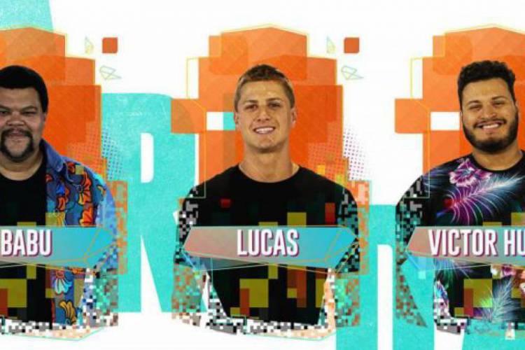 Babu, Lucas e Victor Hugo estão no paredão do BBB20. Vote na enquete (Foto: Divulgação/ GSHOW)