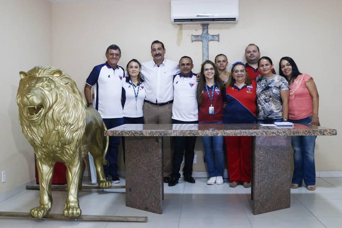 FORTALEZA, CE, BRASIL, 18-02-2020: Coletiva de apresentação de metas do time feminino do Fortaleza Esporte Clube no centro de treinamento Alcides Santos.  (Foto: Beatriz Boblitz/ O POVO)
