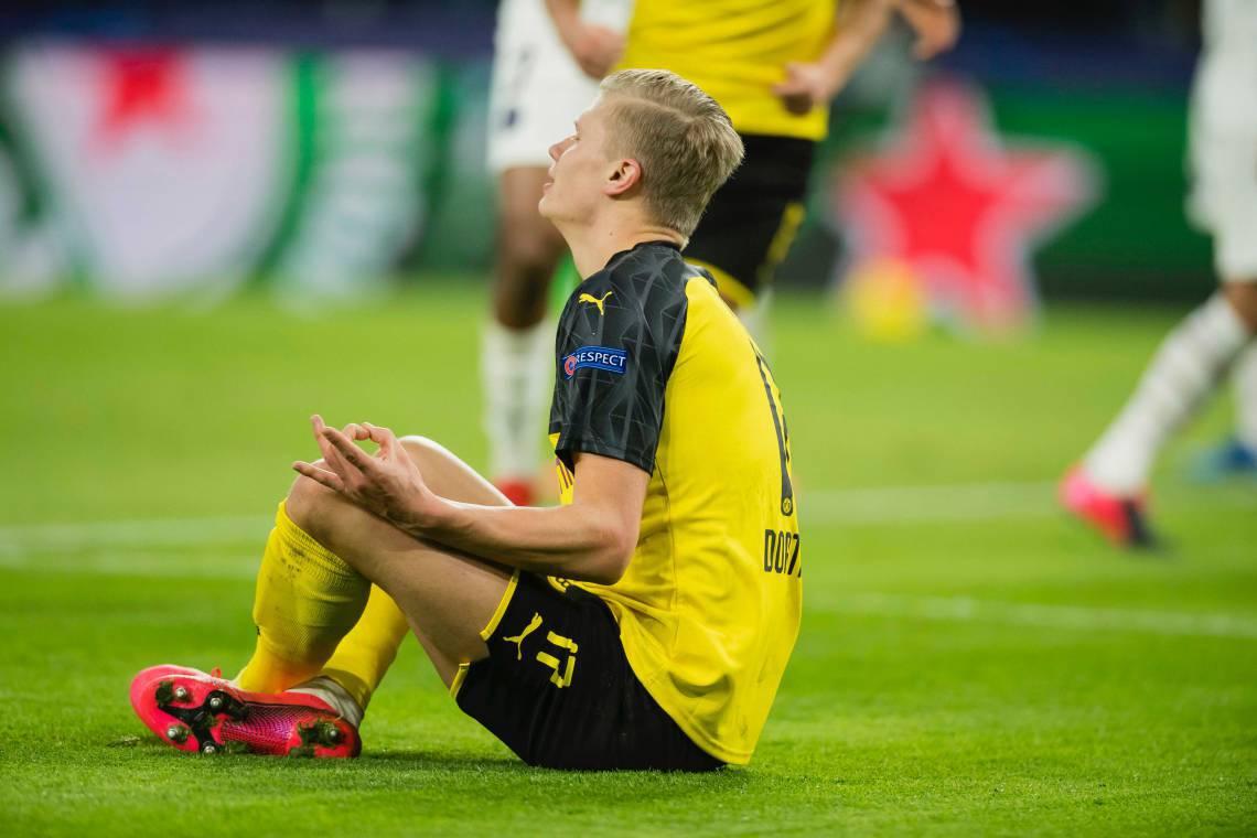 Haaland comandou o triunfo do Borussia Dortmund