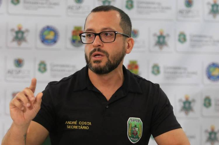 FORTALEZA, CE, BRASIL, 19.02.2020: André Costa, titular da Secretaria da Segurança Pública e Defesa Social do Estado do Ceará.  (Fotos: Fabio Lima/O POVO)